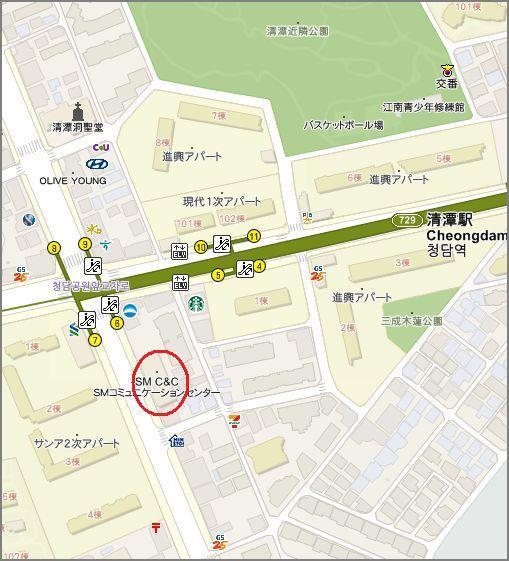 smカフェ地図