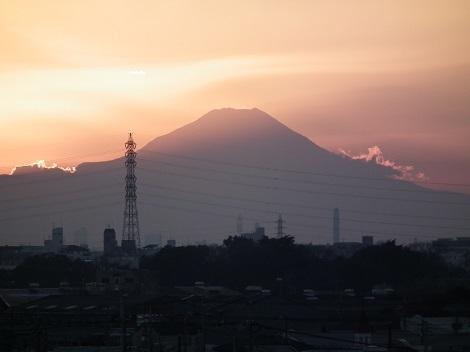 夕日富士山1230