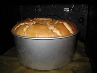 シフォンケーキ オーブンの中