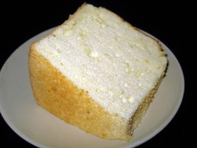 レモンのシフォンケーキ カット