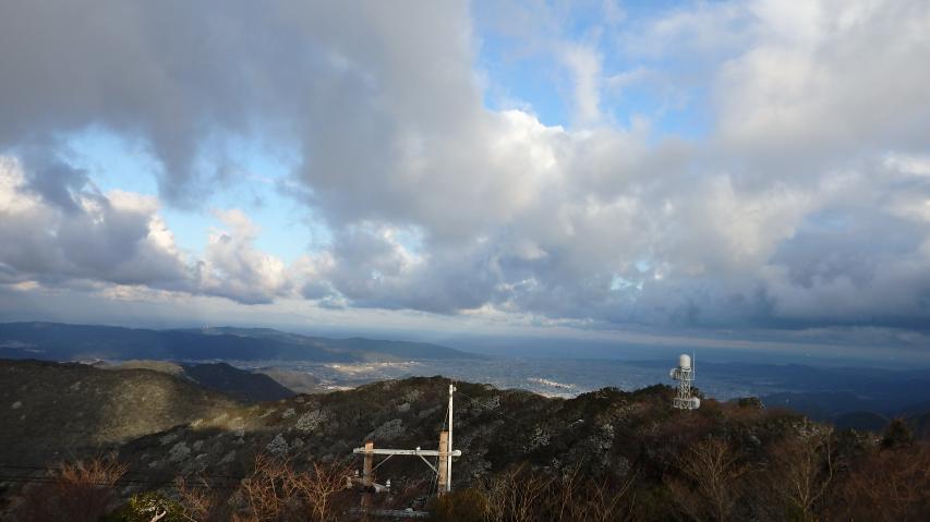 山頂から北西方向