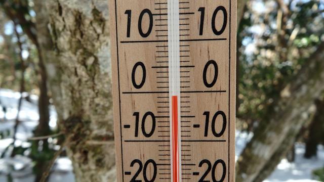 13時00分に気温は-1度