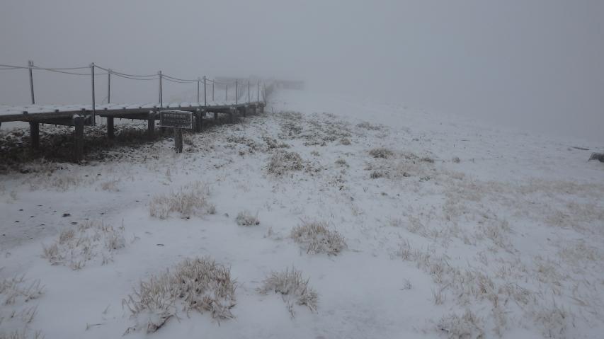 2016年11月24日の剣山山頂