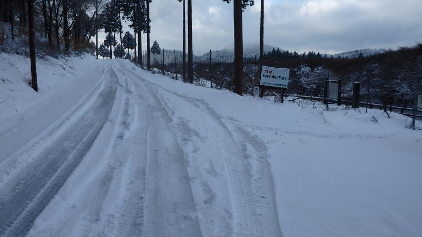 積雪はまだ少ない