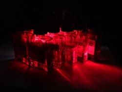 赤ボトルライティング