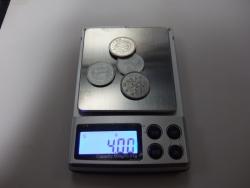 デジタル秤・一円玉4枚正確