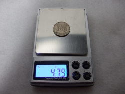 デジタル秤100円玉その1