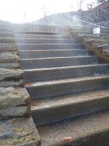 階段から湯気