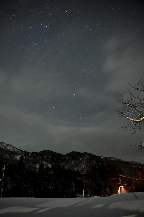 雪と星の夜