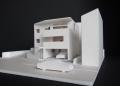 山形の家ラフ模型1