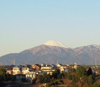 2・11早朝の富士山
