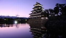 松本城夕景