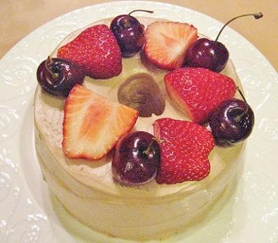 ベリーチョコシフォンケーキです