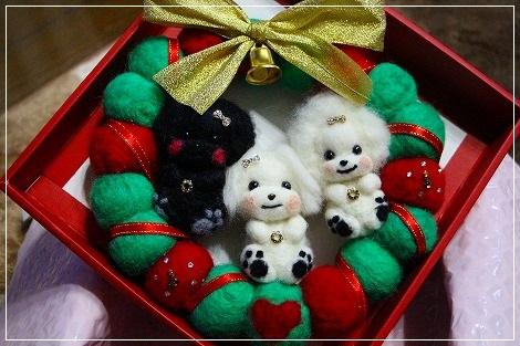 羊毛クリスマスリース★