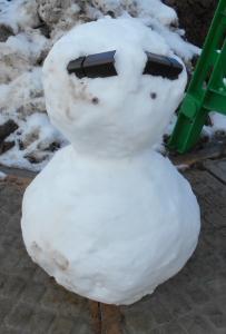 融雪スノーマン