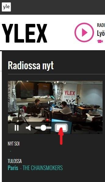 Ylex スタジオ風景 フルスクリーン