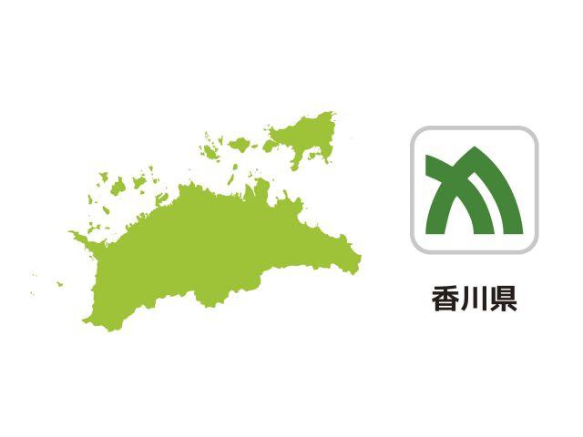 香川県 地図 イラスト