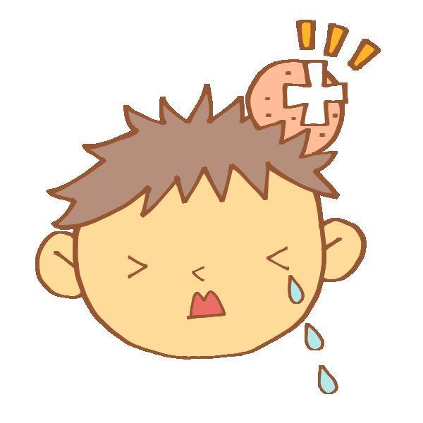 たんこぶに泣く 子供