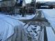 雪かきをした道路