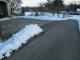 雪かきしたところは乾いた