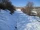 北側斜面の雪