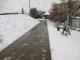 北側道路の雪かき