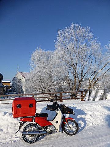 17 1/5 バイクと樹氷