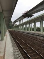 金崙車站横の高架橋はまだ工事中170113