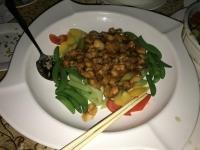 貝とエンドウ豆の和え物170113