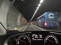 北宜高速雪山トンネルは渋滞中170128