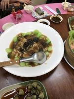 ナマコとチンゲン菜170207