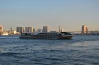 飛行機と水上バスと海鳥170121