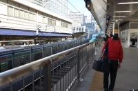 はやぶさ東京駅入線170122