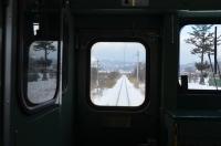 雪の単線を淡々と170122