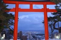 鳥居から函館170122