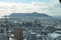 五稜郭から函館山アップ170123