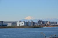 羽田駐車場から富士山170125