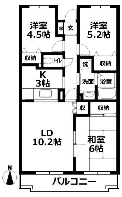 ■物件番号4800 ファミリー3LDKマンション!便利な矢畑エリア!日当り良好!敷・礼ゼロ!8.5万円!