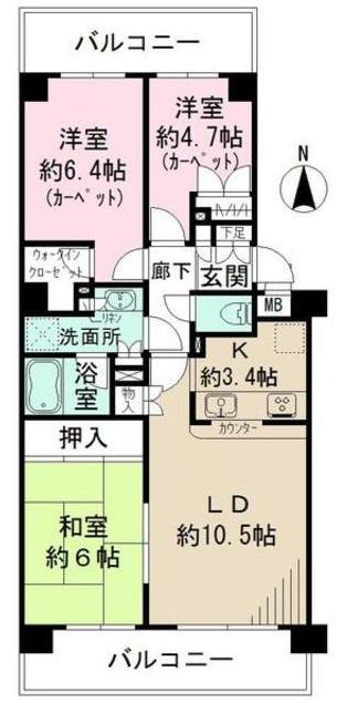 ■物件番号4819 海側!駅9分!分譲マンション賃貸!ファミリーOK!70平米3LDK!更新可能!12.5万円!