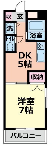 ■物件番号P4850 希少なネコも犬もOK!ペット可マンション!1DK!広めの28平米!3階!お手頃5.5万円!