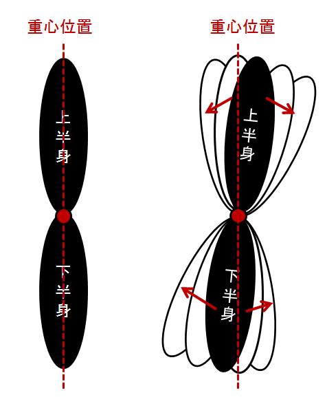 体表からわかるランドマークを用いた重心位置と姿勢の評価 力学的負荷の評価法と治療への応用方法 上半身と下半身は股関節を軸に調節される