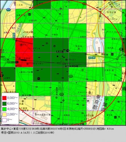 葛西1人口分布図
