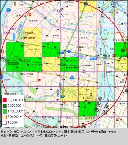 葛西3購買人口分布図