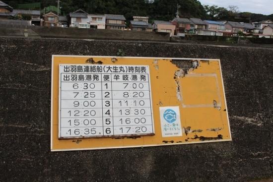 ②出羽島航路時刻表