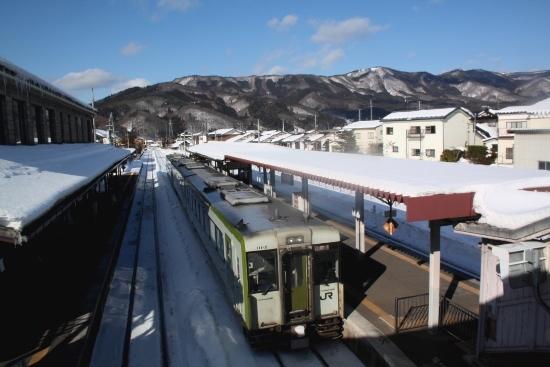 ④遠野駅ホーム