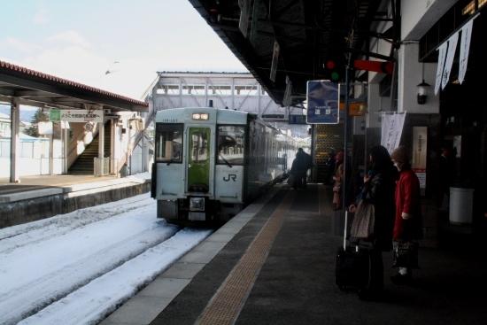 ⑩遠野ホーム上り列車