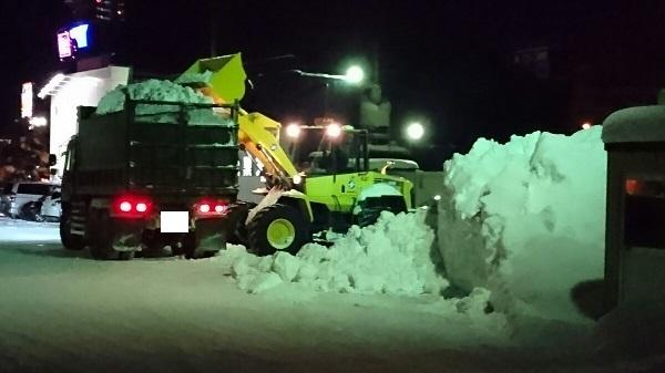 雪酷い ①