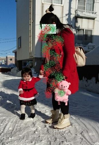 親子コーデ クリスマスバージョンww