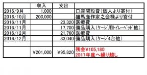 2016収支