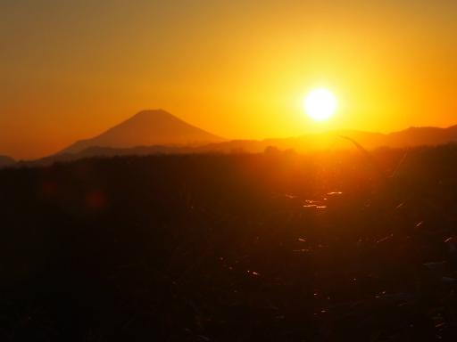 20161225・狭山富士散歩空03・狭山富士から富士山